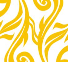 Zodiac Sign Pisces Gold Sticker