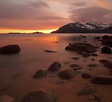 Midnight sunset in the arctic by Frank Olsen