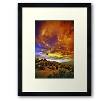 Post Tstorm Clouds 2 Framed Print