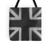 Stitched Union Jack - Grey Tote Bag