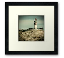 End of slope Framed Print