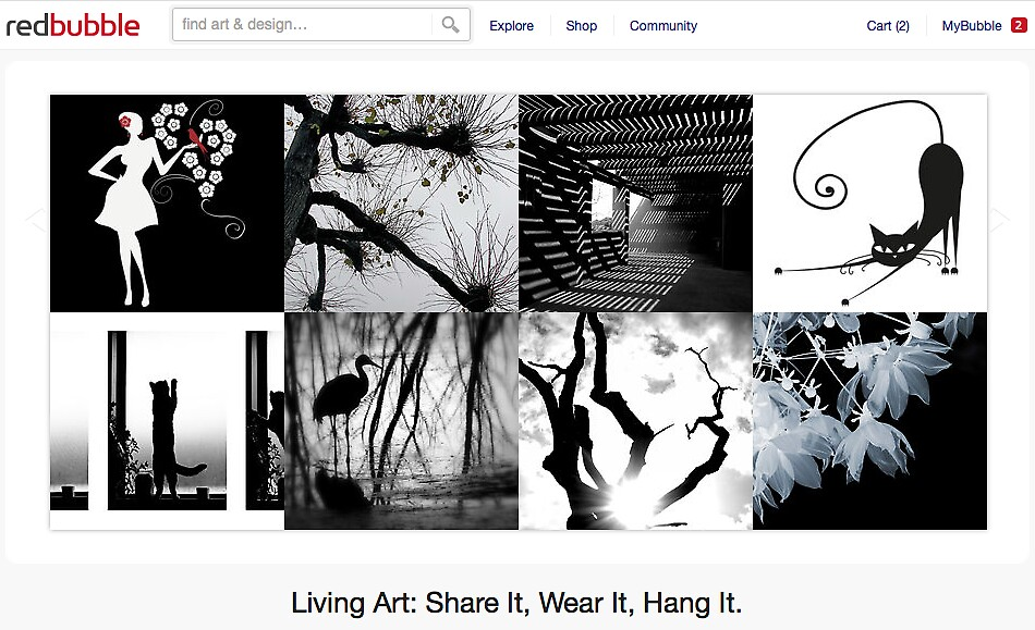 A Touch of Life in B&W - 29 May 2011 by The RedBubble Homepage