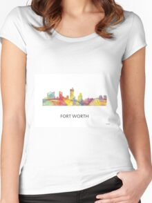 Fort Worth, Texas Skyline WB1 Women's Fitted Scoop T-Shirt