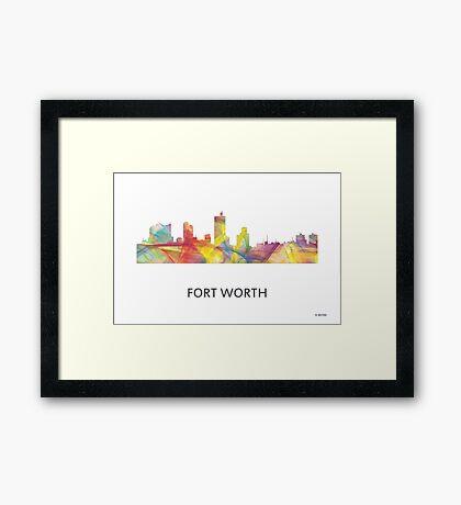 Fort Worth, Texas Skyline WB1 Framed Print