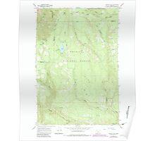 USGS Topo Map Oregon Jubilee Lake 280352 1967 24000 Poster