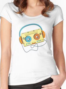 Mr. MP3 Cassette Women's Fitted Scoop T-Shirt