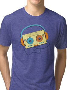 Mr. MP3 Cassette Tri-blend T-Shirt
