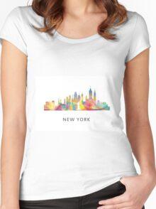 New York City, New York skyline WB1 Women's Fitted Scoop T-Shirt