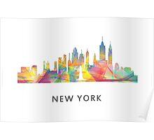 New York City, New York skyline WB1 Poster
