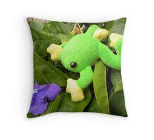 Frog  ~  Padda  ~  {toadii latoysi} Throw Pillow