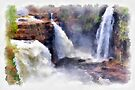 Waterfalls watercolour by PhotosByHealy