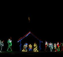 Christmas Lights Nativity by KellyHeaton
