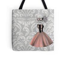 Pink Party Dress and Masquerade Mask Tote Bag