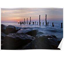 Delaware Bay Sunrise Poster