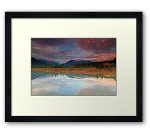 Vermillion Lakes Framed Print