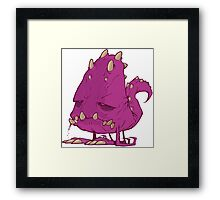 Monster-vector Framed Print