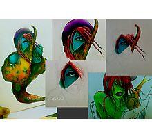 Monstah_ColorPencil Photographic Print