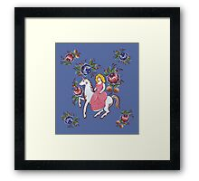 The girl and the unicorn Framed Print