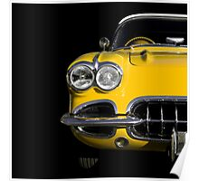Classic Car (yellow) Poster