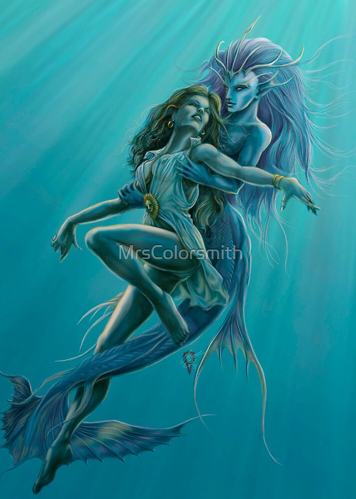 Mermaid Rescue by Rob Carlos by MrsColorsmith