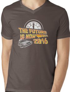 Back to the Future, The future is now 2016 Mens V-Neck T-Shirt