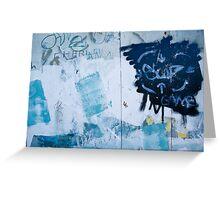 Graffiti Blue No.2 Greeting Card