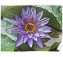 Sacred Blue Lotus Poster