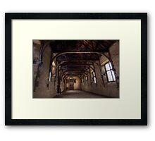 Indoor Riding School At Bolsover Castle Framed Print