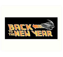 Back to the New Year (Back to the Future) Color Art Print