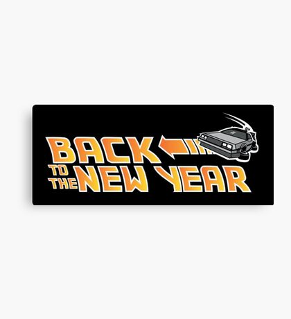 Back to the New Year (Back to the Future) Color Canvas Print