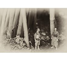 Kyuzo and Kambey in the Forest Photographic Print