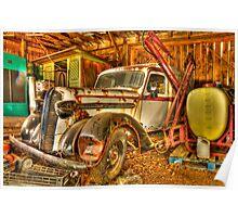 old milk truck Poster
