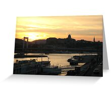 The Pink Danube Greeting Card