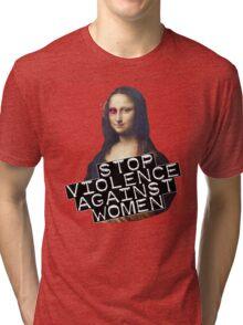 STOP VIOLENCE AGAINST WOMEN Tri-blend T-Shirt