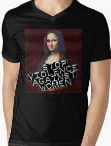 STOP VIOLENCE AGAINST WOMEN Mens V-Neck T-Shirt