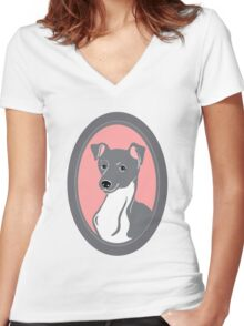 Italian Greyhound Women's Fitted V-Neck T-Shirt