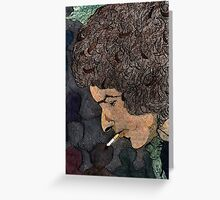 36 - BOB DYLAN - DAVE EDWARDS - COLOURED PENCILS & INK - 1981 Greeting Card