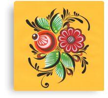Gorodets flowers Canvas Print