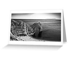 Durdle Door B&W Greeting Card