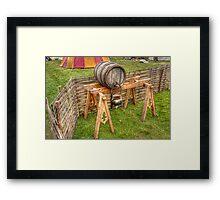 Barrel And Stand Framed Print