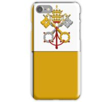 Papal flag pattern iPhone Case/Skin