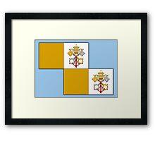 Papal flag pattern Framed Print