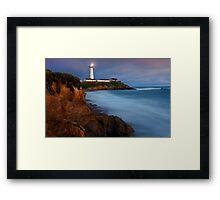 Pigeon Point Sunset Framed Print
