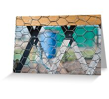 Lozenge Fence Greeting Card