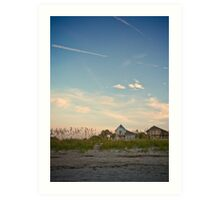 Beach Houses by the Dunes - Isle of Palms Art Print