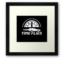 Time Flies (Back to the Future) Framed Print
