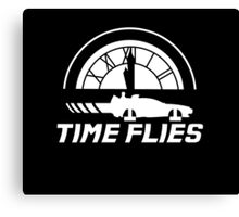 Time Flies (Back to the Future) Canvas Print