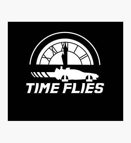 Time Flies (Back to the Future) Photographic Print