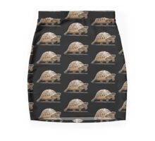 Marching Baby Tortoise Cartoon Vector Isolated Mini Skirt