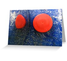 Blue & Red Abstract Greeting Card